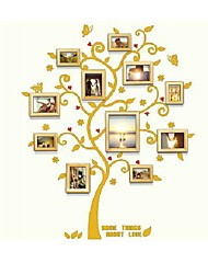 Naturaql Color Photo Frame Collection Set von 8 mit Golden Tree Wandaufkleber
