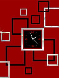 """22 """"Horloge H style moderne bloc acrylique Miroir"""