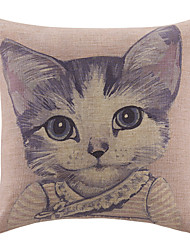 Cute Cartoon  Little Cat Pattern Decorative Pillow Cover