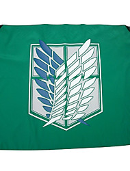 Cosplay Accessories Inspired by Attack on Titan Cosplay Anime Cosplay Accessories Flag Green Polyester Male