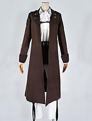 Inspiriert von Attack on Titan Cosplay Anime Cosplay Kostüme Cosplay Kostüme Patchwork Weiß / BraunMantel / Shirt / Hosen / Krawatte /