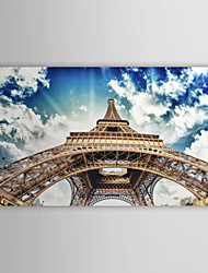 Impressão Em Canvas Art Landscape olhou para Torre Eiffel