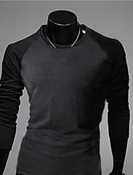 Männer Kontrast Farbe Long Sleeve Casual T-Shirt