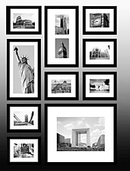 Collection Black Frame de New York photo murale Ensemble de 10