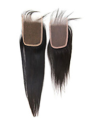 """14"""" Brazilian Hair Silky Straight Lace Top Closure(3.5""""*4"""") Natural Color"""