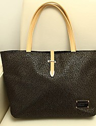 PLUS Elegant Solid Color Square Large Casual PU Leather Tote BUY-92 46*22*13