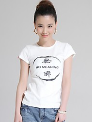 Women's Chinese Characters Short Sleeves T-Shirt [No Meaning]
