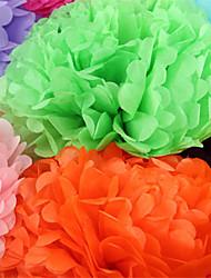 Decorações de cinco peças forma redonda do casamento de papel / Festa (mais cores)