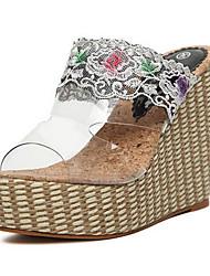 женские пятки клина платформы слайд сандалии обувь (больше цветов)