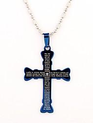 Personalisierte Geschenke kreuzförmigen Gravur Halskette