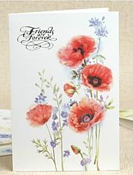 """""""Amis pour toujours"""" carte de modèle de fleur de voeux"""