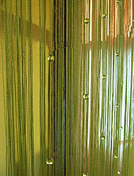 """Classic String Shining Beads Curtain Line - Three Colors Available (39""""W × 108""""L)"""