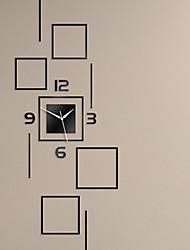 """39.5 """"H style moderne bloc acrylique Miroir Horloge murale"""