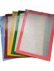 resistente al calor antiadherente fda estera de fibra de vidrio para hornear de silicona (color al azar)
