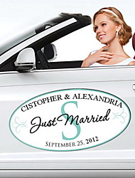 Personalized Monogram Wedding Window/Car Cling (More Colors)