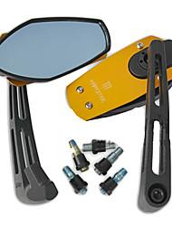 Mostro Motorcycle Parts REMOULD anti-abbagliante specchio convesso (giallo Pair)
