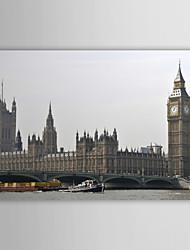Stretched Canvas Print Art Landscape Big Ben And The Construction