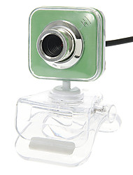 Square Shaped Portable 8 Megapixel Webcam with Mic