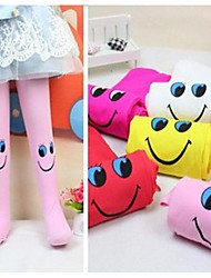 Children's Candy Color Smiling Face Baby Leggings