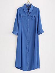 Sprint mousseline de soie longue chemise de la femme