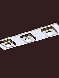 Umei ™ levou montagem embutida de cristal com 3 luzes, moderno âmbar cristal de galvanização de aço inoxidável.