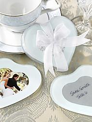 Cattura Mio Cuore Foto Vetro Coasters, Set di 2
