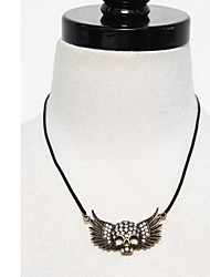 Women's Skull with Wings Necklace