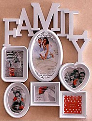 Hart Family Conjoined Witte ABS Photo Wall Frame Collection Set van 6