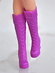 Barbie-Puppe Lila Lace-up-High-Heels-Stiefel