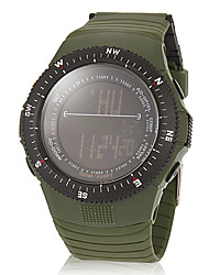 Unisex Multi-Functional Digital Dial Rubber Band Wrist Watch (Assorted Colors)