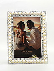 Antique Style Metal Pearls Picture Frame