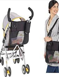 Poussette de bébé sac de rangement multifonctionnel Main Noire Sac de maman