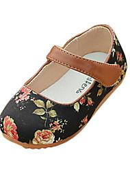 El talón plano de la tela de las niñas Mary Jane zapatos de los planos (más colores)