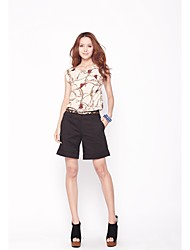 Zoely Damenmode Round Neck Bluse mit Blumenmuster-T-Shirt 101122M017