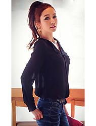 Dexon Productos de la Mujer Elegante Y Sexy Negro blusa de la gasa