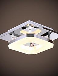 8W levou acrílico montagem embutida, uma luz, acrílico moderno galvanização de aço inoxidável