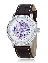 Men's Auto-Mechanical Skeleton Leather Band Wrist Watch (Assorted Colors) Cool Watch Unique Watch