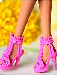 Barbie Puppe Rosa PVC-Sandalette