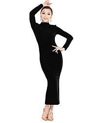 Velvet sexy dos nu moderne de robe de danse de performance des femmes (plus de couleurs)