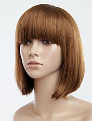 Hair Fashion complet Bang Bobo court perruque de cheveux Straight