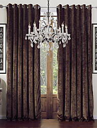 Modern Two Panels Solid  Living Room Coffee Curtains Drapes