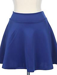 De las mujeres de cintura alta corto atractivo Llanura evasé plisado Mini Faldas