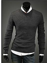 Los hombres de moda clásico suéter manga larga Suéter Casual