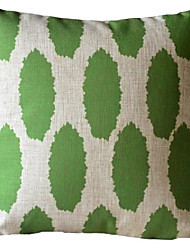 Green Flash ovale strisce decorative copertura del cuscino