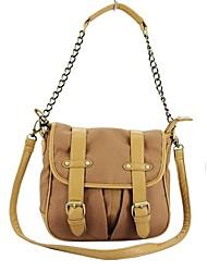 Designer Détail boucle Messenger Bag