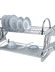 "1 Kitchen Kitchen Stainless Steel / Plastic Rack & Holder W59cm x L24cm x H40cm(W23.6"" x L9.6"" x H16"")"