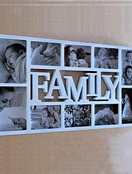 Anglais Parole famille ABS blanc Photo Wall Frame Collection Ensemble de 10