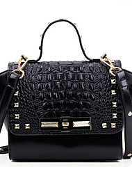 Europe And America Alligator Tote With Rivet