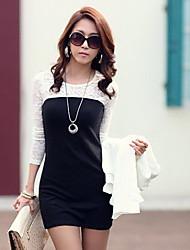 Women's Dresses , Cotton Blend/Lace Casual CoolCube