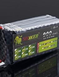 LEÃO 11.1V 900mAh 25C LiPo Battery Pack Para RC Helicopter (JST Plug)